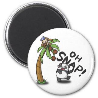 Oh Snap Panda & Monkey Magnet