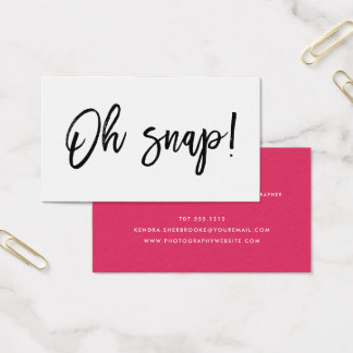 Oh Snap | Photographer Business Card