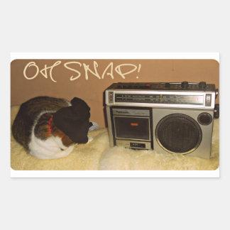 Oh Snap! Rectangular Sticker