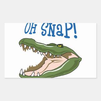 Oh Snap Rectangular Sticker