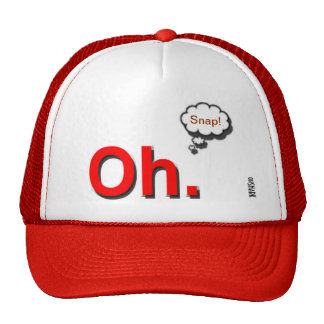 """Oh Snap!"" Red Trucker Hat"