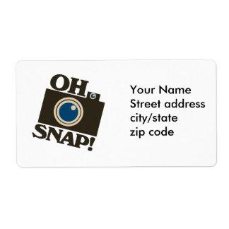 Oh Snap! Retro Camera Labels