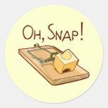 Oh, Snap! Round Sticker