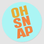 Oh Snap Round Stickers