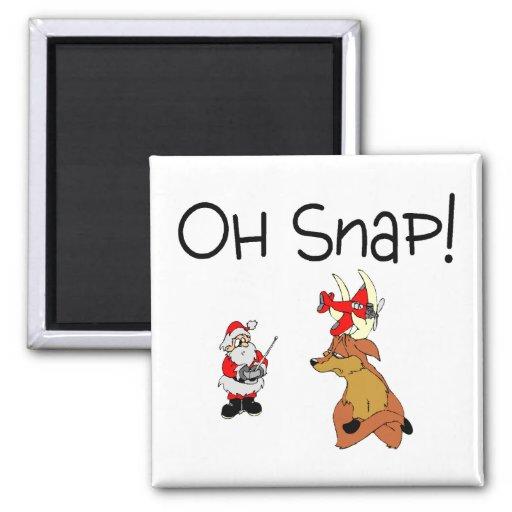Oh Snap Santa Reindeer Magnet