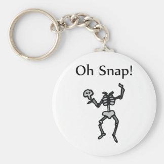 Oh Snap! (Skeleton) Basic Round Button Keychain