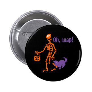 Oh, Snap Skeleton 2 Inch Round Button