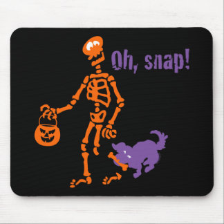 Oh, Snap Skeleton Mouse Pad