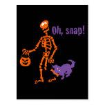 Oh, Snap Skeleton Postcard