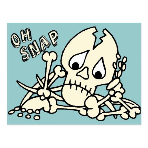 Oh Snap Skeleton Postcard