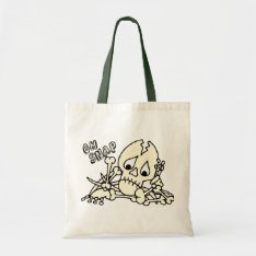 Oh Snap Skeleton Tote Bag at Zazzle