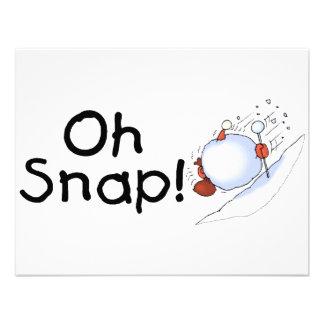 Oh Snap Snowball Invitations