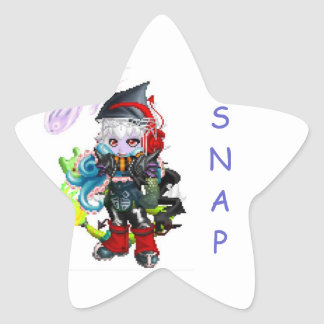 Oh snap star sticker