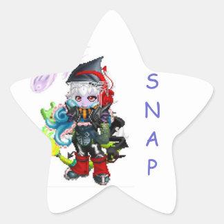 Oh snap star sticker