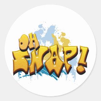 Oh Snap! Round Sticker