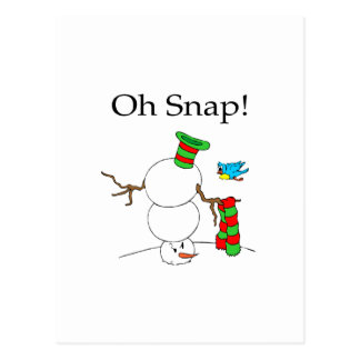 Oh Snap! (UD Snowman) Postcard
