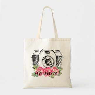 Oh Snap! Watercolor Peonies Tote Bag