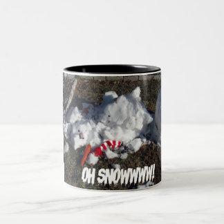 Oh Snowwww! Two-Tone Coffee Mug