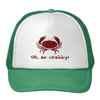 Oh so crabby mesh hats