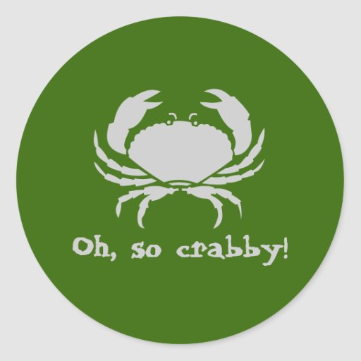 Oh, so crabby! stickers