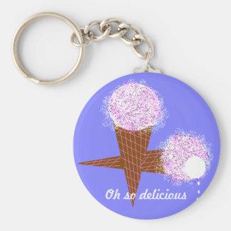 Oh so delicious ice cream cones keychain