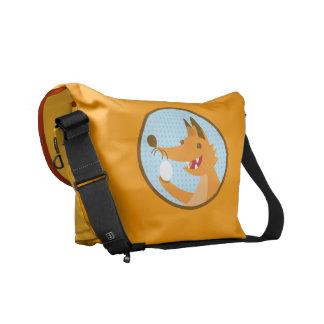 Oh so foxy egg eater! messenger bag
