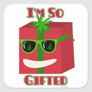 Oh So Gifted Square Sticker