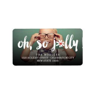 Oh So Jolly! Pom Pom Brush Holiday Photo Labels