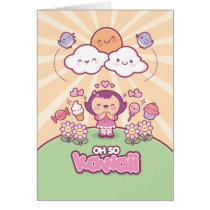 Oh So Kawaii Greeting Card