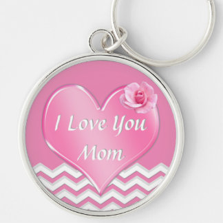 Oh So Pretty Customizable I Love You Mom Keychains