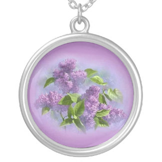 oh so pretty lavender lilacs Necklace