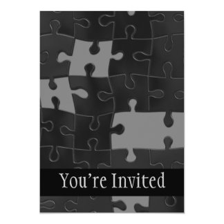 Oh So Puzzling 5x7 Paper Invitation Card