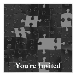 Oh So Puzzling 5.25x5.25 Square Paper Invitation Card