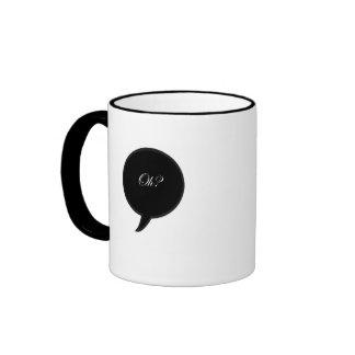 """Oh?"" so simple 11 oz Ringer Mug"