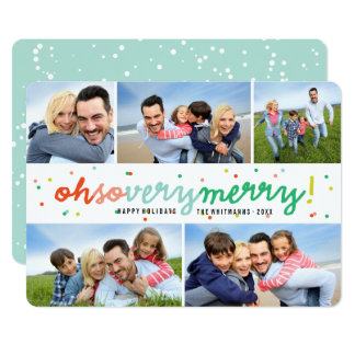 Oh So Very Merry Dots Holiday Photo Collage Card