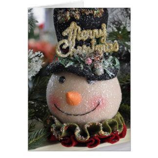 oh Sr. Snowman Tarjeta De Felicitación