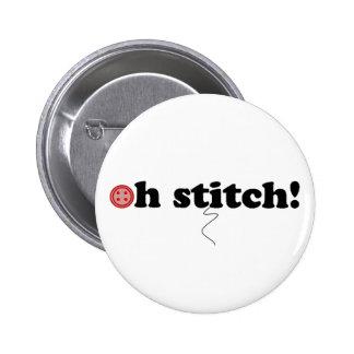 oh stitch! pinback button
