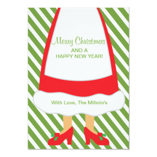 Oh Stripes, Striped Mrs. Claus Card