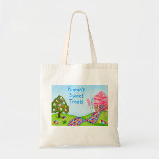 Oh Sweet Candy Land and Cupcakes Budget Tote Bag