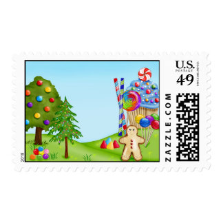 Oh Sweet Candy Land  Postage Stamps