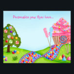 """Oh Sweet Candyland Flyer / Letterhead<br><div class=""""desc"""">personalize however you wish to fit you needs... </div>"""