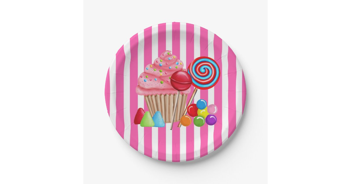 Oh Sweet Candyland Paper Plates Zazzle Com