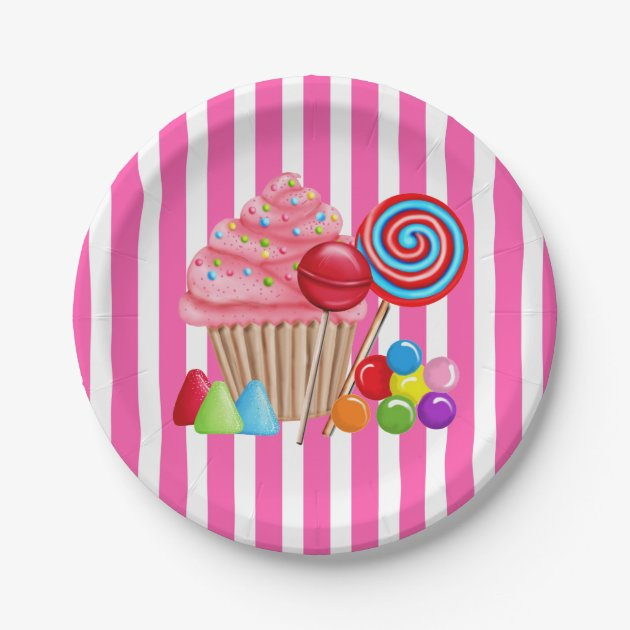 oh sweet candyland paper plates