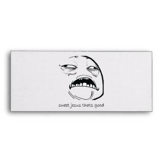 Oh Sweet Jesus Thats Good Rage Face Meme Envelope