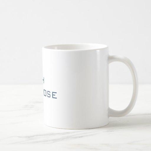 Oh tan cercano taza básica blanca