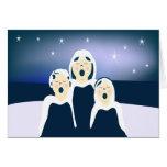 Oh tarjeta de felicitación santa de la noche
