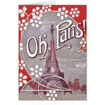 Oh tarjeta de nota de la torre Eiffel de París
