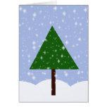 Oh tarjeta del árbol de navidad