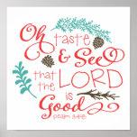 Oh Taste and See Decorative Art Print