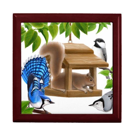 Oh That Naughty Birdfeeder Squirrel Gift Box